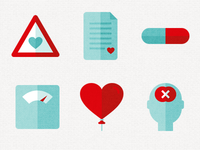 Heart Foundation icons