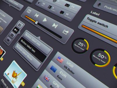iDevice UI Kit Preview ui kit idevice iphone ipad kit user interface 3d