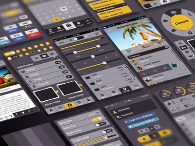 iPhone User Interface Kit ios iphone ui kit user interface app native app apple dark flat