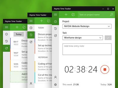 Time Tracking Windows Widget design software ux ui time tracking widget app windows app app widget