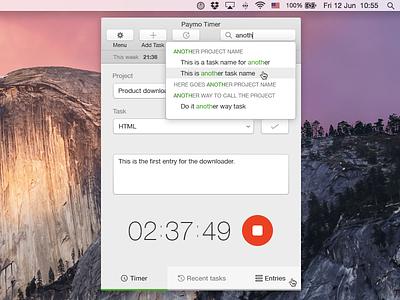 Time Tracking Widget for Mac mac os desktop tracking app widget mac app mac widget time tracking