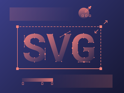 Illustration for new SVG Upload Feature scale feature color picker anchor points vector illustration svg