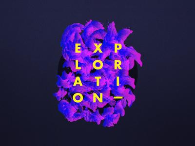 Digital Exploration poster noise bright colors brush gradient