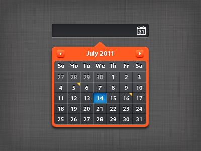 Calendar Date Picker calendar dark input field color date picker