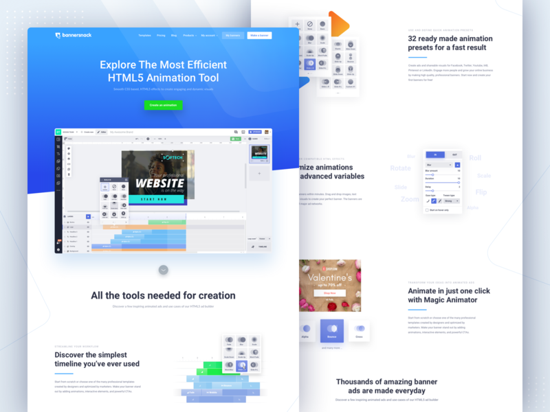 Html5 Animations Landing Page ux web app flat typography app vector design ui header minimal clean illustration geometric modern light webdesign sketch html5 landingpage