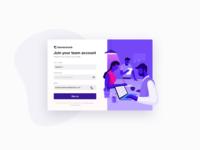 Dribbble Team Invite Account Setup