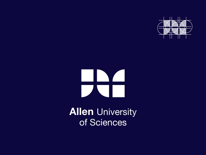 Logo For Allen Universiy A Modern Bold Monogram Which I Kept It Simple In Order To Ensure Legibility Small Size Like Cufflinks Or Pins Big