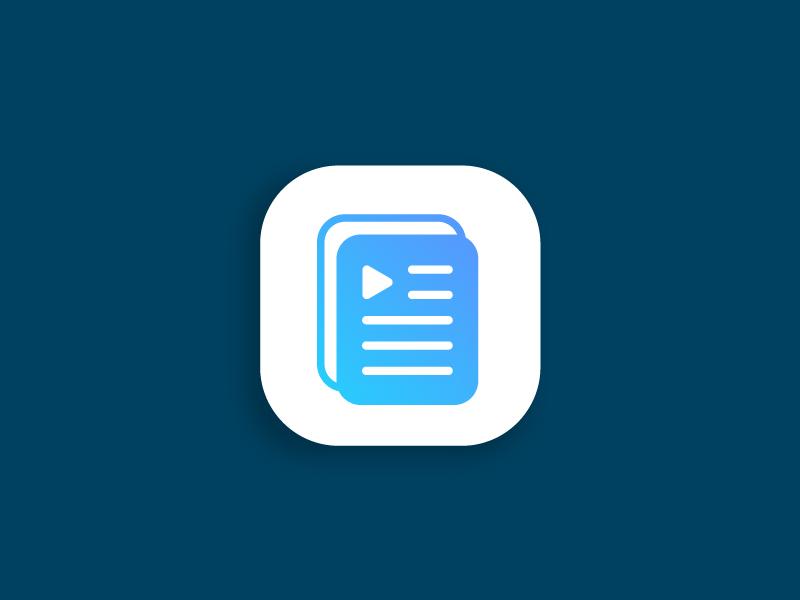 Audiobook Player App Icon Logo By Klaudia Mondek On Dribbble