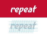 Repeat Calligraphy Wordmark Logo
