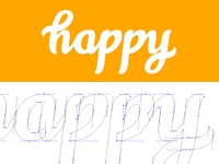 Happy Calligraphy Wordmark Logo