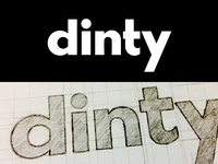Dinty Dental Wordmark Logo