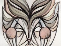 Mask watercolor