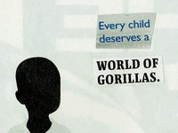 collage: world of gorillas