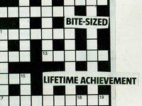 crossword collage