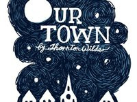 """Our Town"" poster with title"