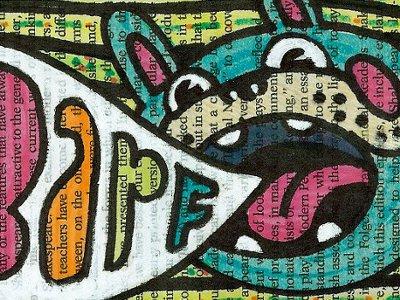 barf dog, from Tempest sketchbook sketchbook animal dog cartoon illustration