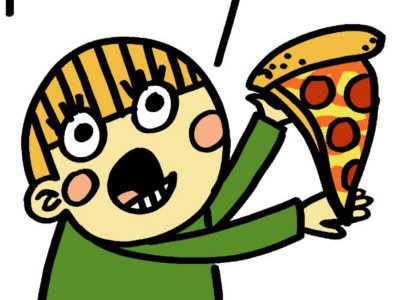 pizza boy illustration drawing cartoon kid boy child pizza food