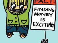Finding Money Cartoon