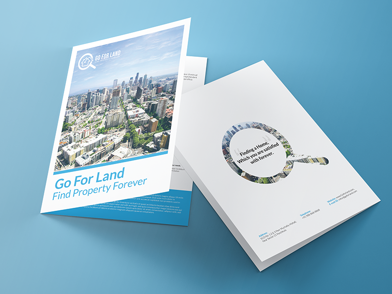Go For Land Real Estate BiFold Brochure Design