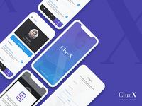 ClueX Job Board App Screen Design