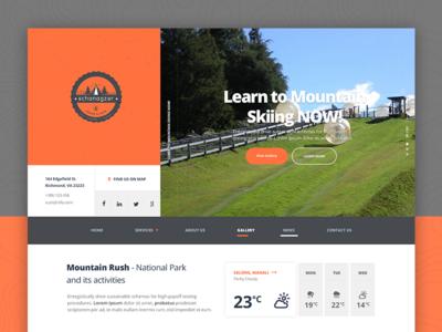 Schanagzer(Lodge & Cafe): UI/Website Design
