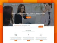 Pures Corporative Web UI Design