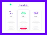 Price Table UI Design
