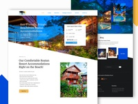 Resort And Travel Package Landing Page Design