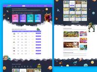 Jeux Casino Website Design UI UX