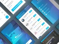 Mobile app design interface
