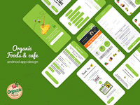 Organic foods & cafe android app design