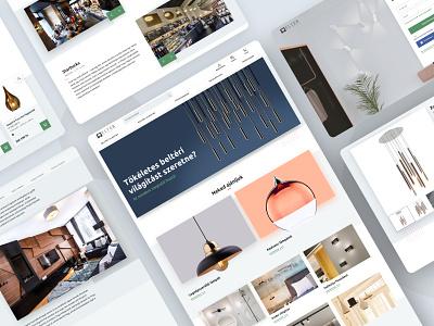 Elter website reDesign lamp shop e-commerce design e-comerce ecommerce website redesign redesign responsive design uxui ux webshop interaction design ux desgin ui design ui clean ui webdesign