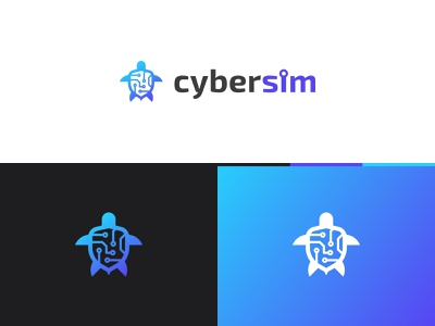 CyberSim logo shield logo shield logo design digital logo turtle logo vector identity animal logo digital turtle digital turtle logo branding cybersecurity