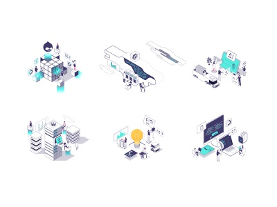 Tech services illustrations axonometric world technologies illustration technologies isometric world dark mode vector isometric illustration isometric design isometric art isometric cloud computing technology division
