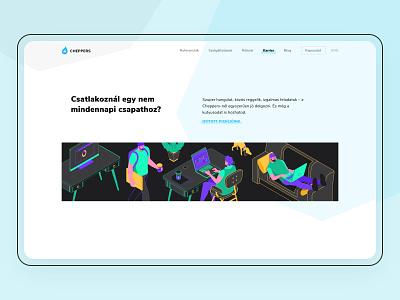 Career page illustration isometric art dark theme office illustration ui illustration ui design vector axonometric isometric isometric illustration illustration
