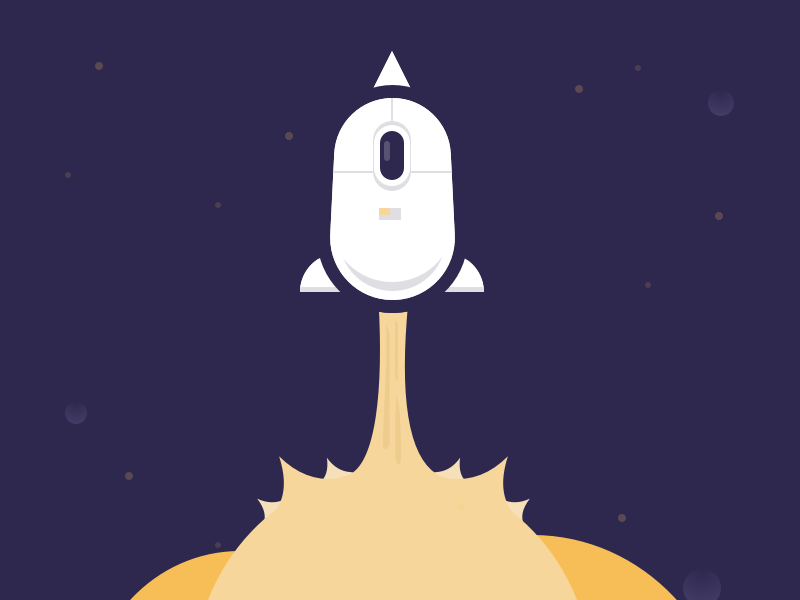 #Typehue Brandom Week 1: SpaceMouse blast off rocket typehue mouse space