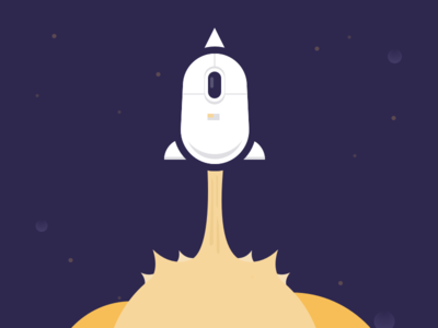Space Mouse by Tom Johnson via dribbble