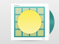 #Typehue Music Week 1: Care by TEMPOREX vinyl band music cover album typehue