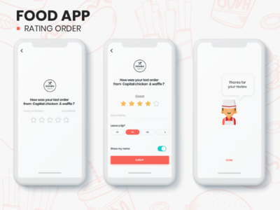Food Ordering App - Rating Concept