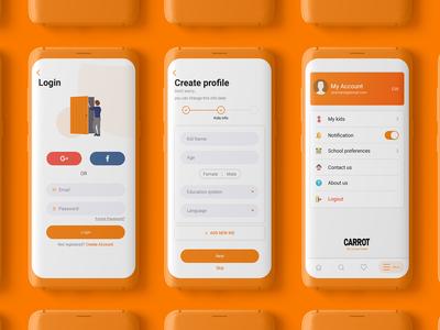 Login and Create profile concept