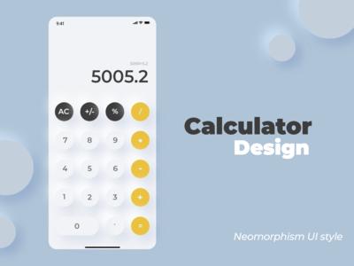 Calculator Neomorphism UI style
