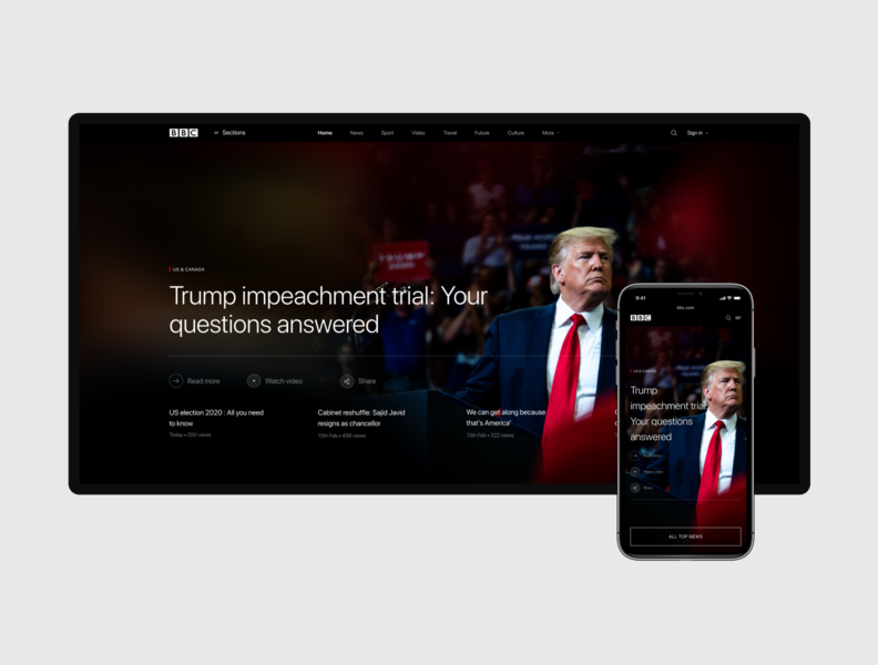 BBC NEWS — redesign concept
