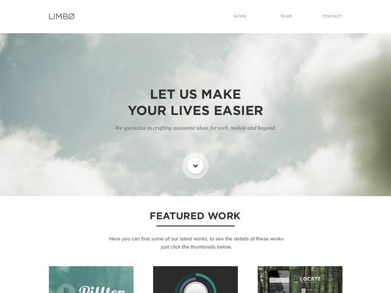 Limbø agency website ui work contact layout