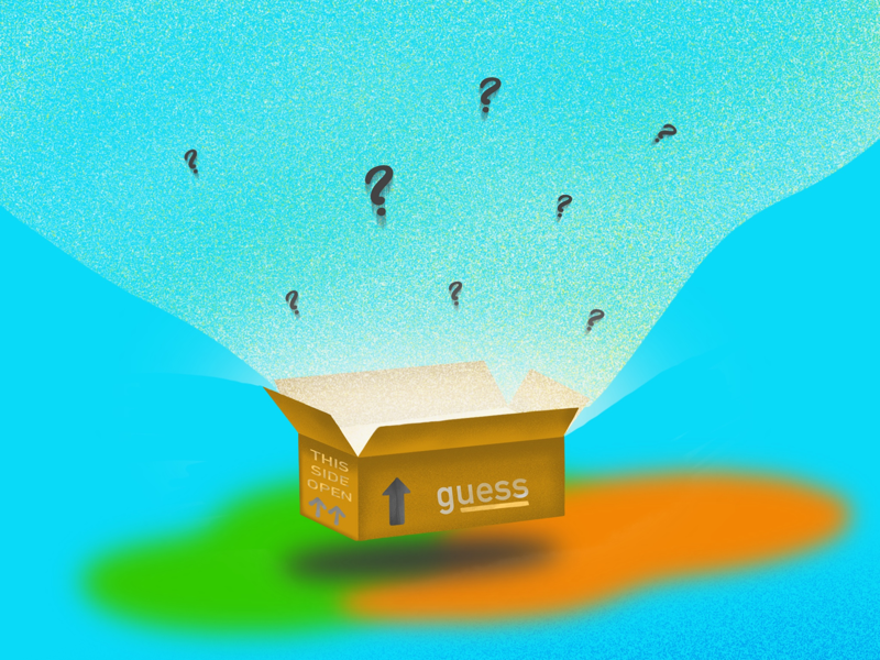 Guess concept procreate drawing illustration artwork guess