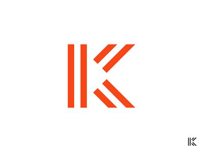 K Logo illustration geometric brand identity vector branding design logo letter logo letter k
