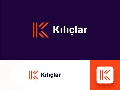 Kılıçlar A.Ş. logo design k logo company logo metallic metallurgy geometric brand identity logo branding design