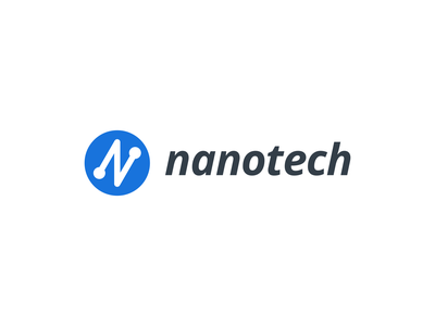 nanotech logo design brand identity technology tech geometric grids vector design branding logo software company company automation
