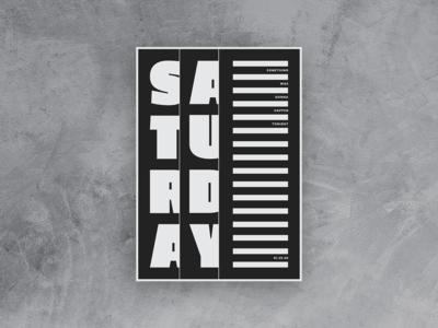 Saturday Poster