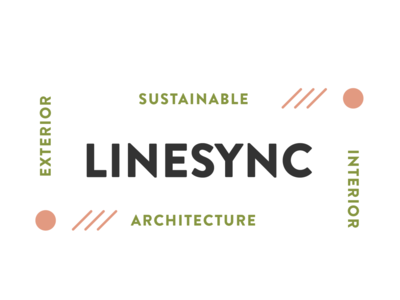 LineSync Brand Mark typography architect architecture natural vector sustainability logotype logo design branding