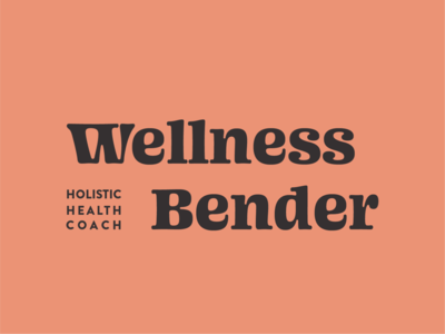 Wellness Bender Logo Option 1 logo natural sustainability vector logotype design typography branding